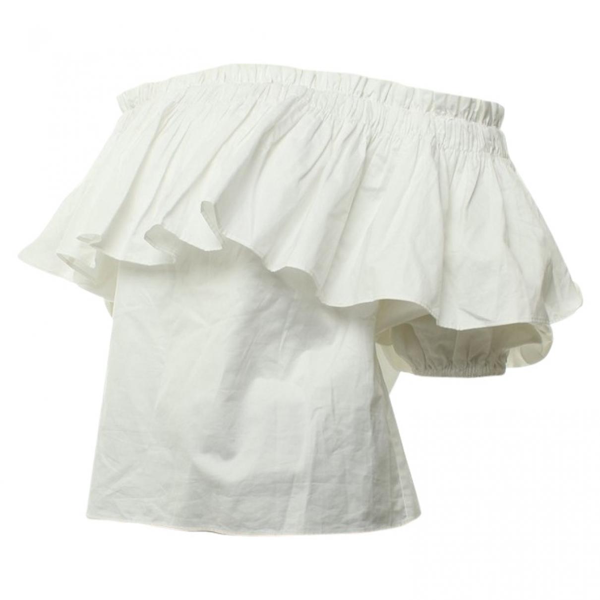 Alexis - Top   pour femme en coton - blanc