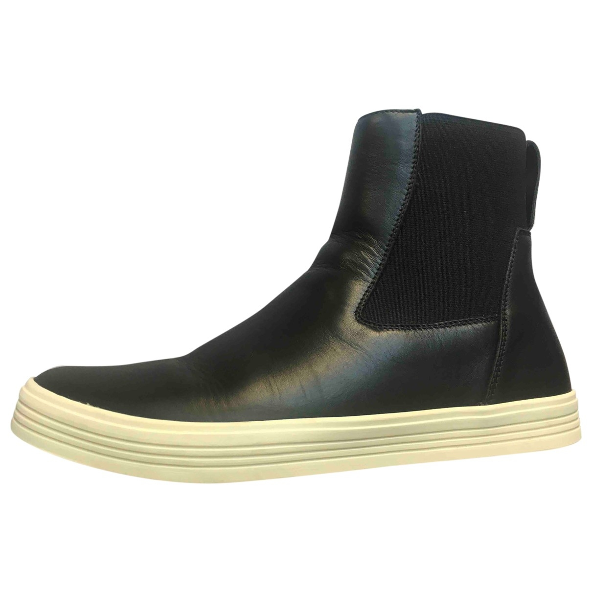 Rick Owens \N Black Leather Ankle boots for Women 37 EU