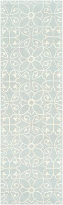 Scott SCT-1013 6' x 9' Rectangle Cottage Rug in Light Gray