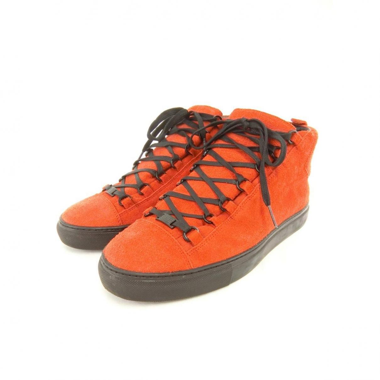 Balenciaga - Baskets   pour homme en suede - rouge