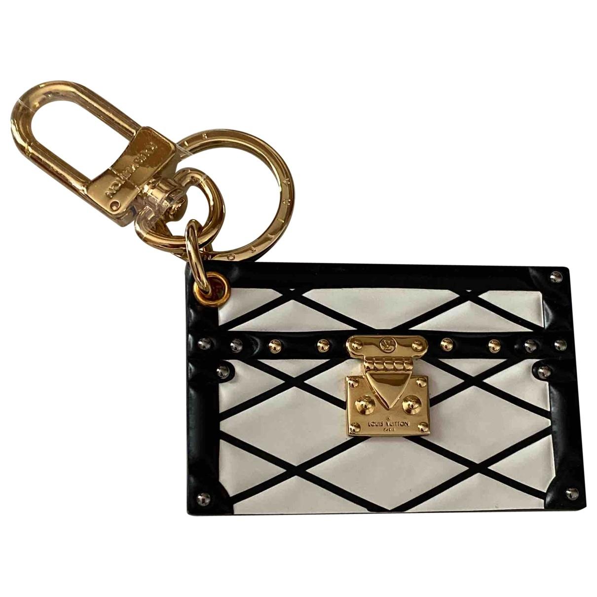 Louis Vuitton \N Taschenschmuck in  Schwarz Leder