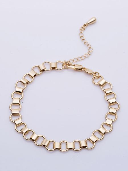 Milanoo Gold Ankle Bracelet Link Beach Anklet Women Jewelry