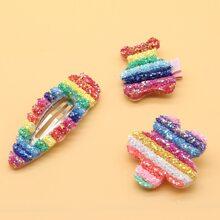 3pcs Rainbow Sequin Hair Clip
