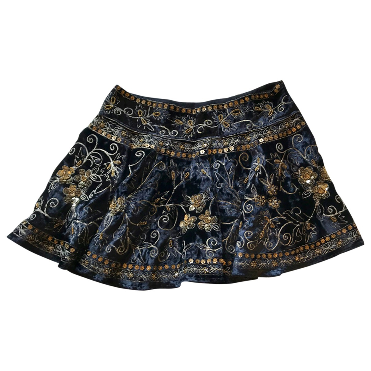Free People \N Navy Velvet skirt for Women S International