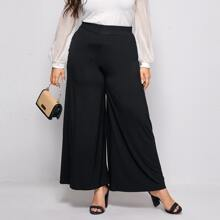 Plus High Waist Wide Leg Pants