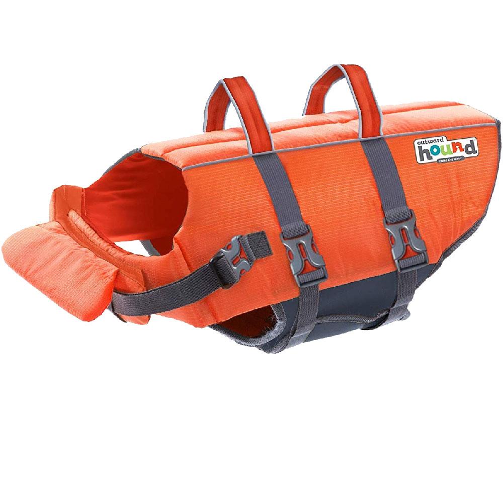 Outward Hound PupSaver Ripstop Life Jacket - Orange (Large)