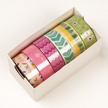 Assorted Pastel Patterns Washi Tape - 9/16 X 10 Yards - Shipping Supplies by Paper Mart