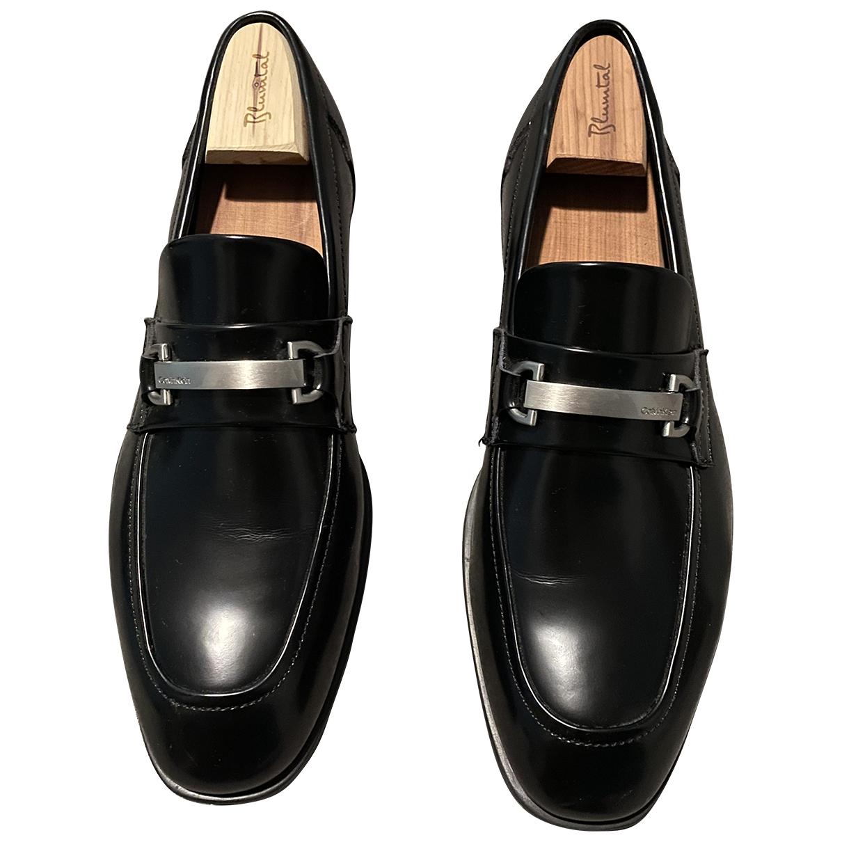 Calvin Klein - Mocassins   pour homme en cuir - noir