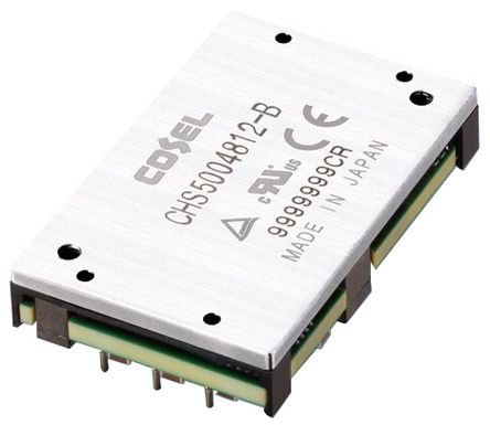 Cosel CHS 504W Isolated DC-DC Converter PCB Mount, Voltage in 36 ? 76 V dc, Voltage out 12V dc