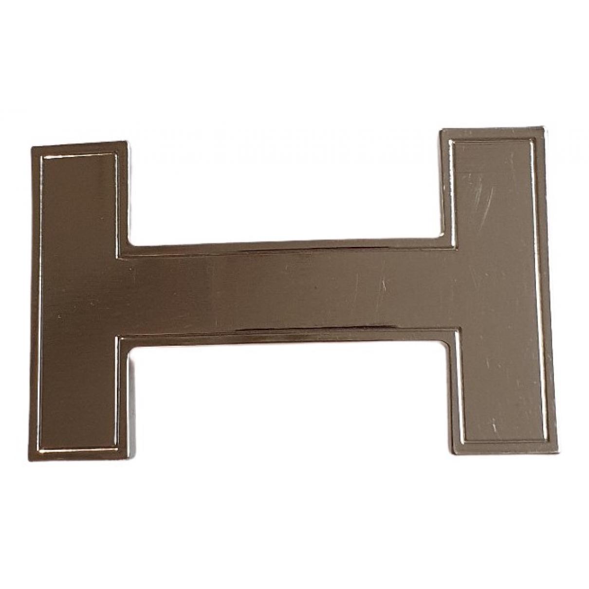 Hermes \N Guertel in  Braun Leder