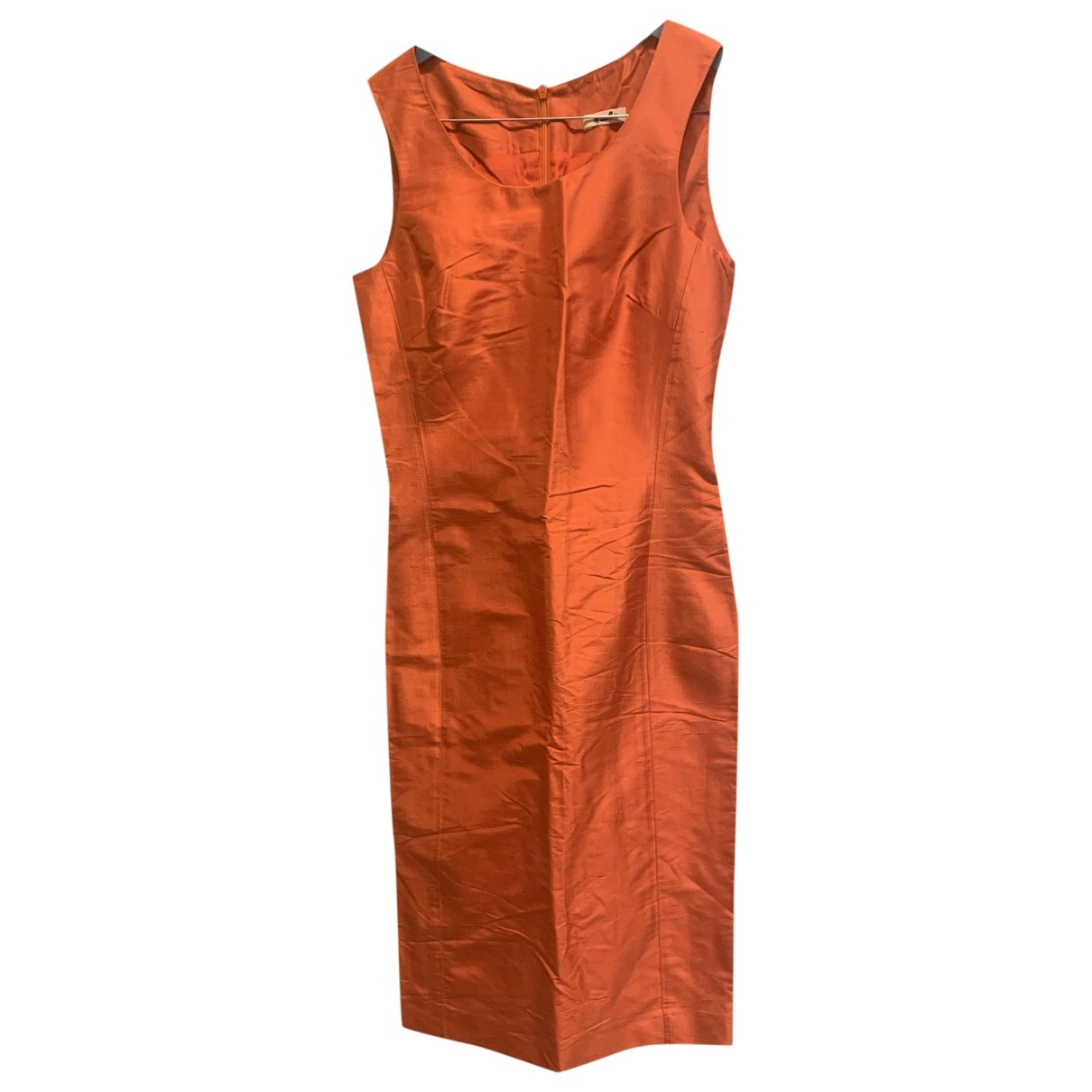 Alberto Biani \N Kleid in  Orange Seide