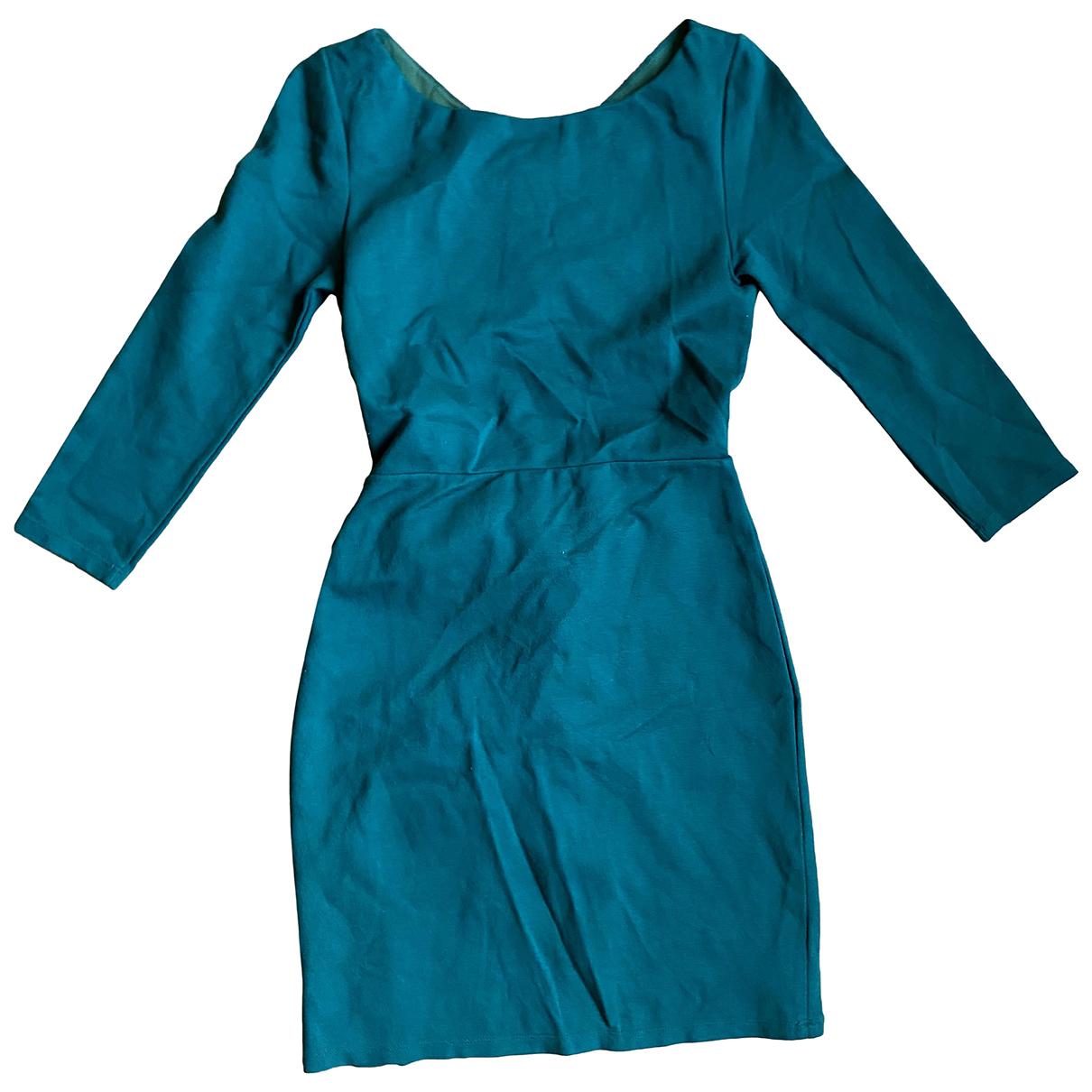 Alice & Olivia \N Green Cotton - elasthane dress for Women 36 FR