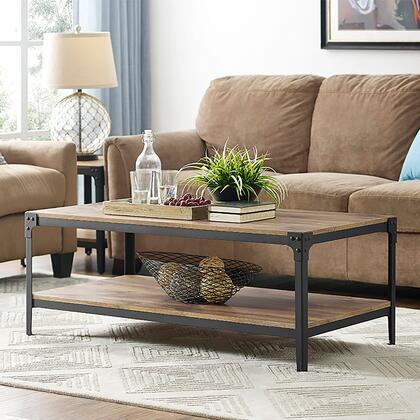 C46AICTBW Angle Iron Rustic Wood Coffee Table -