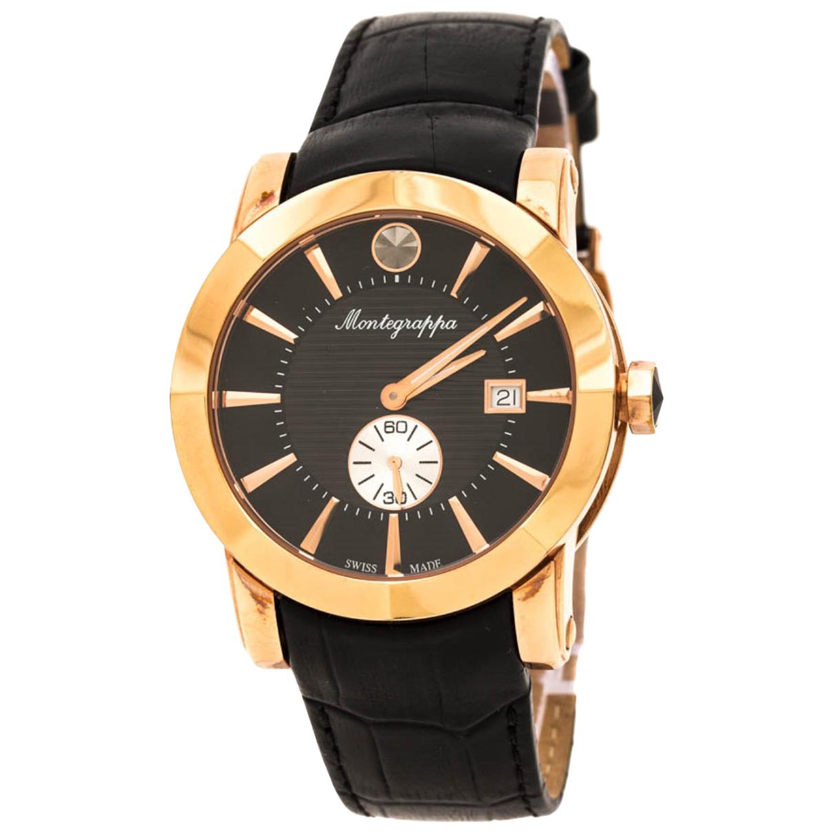 Montegrappa \N Uhr in  Schwarz Vergoldet