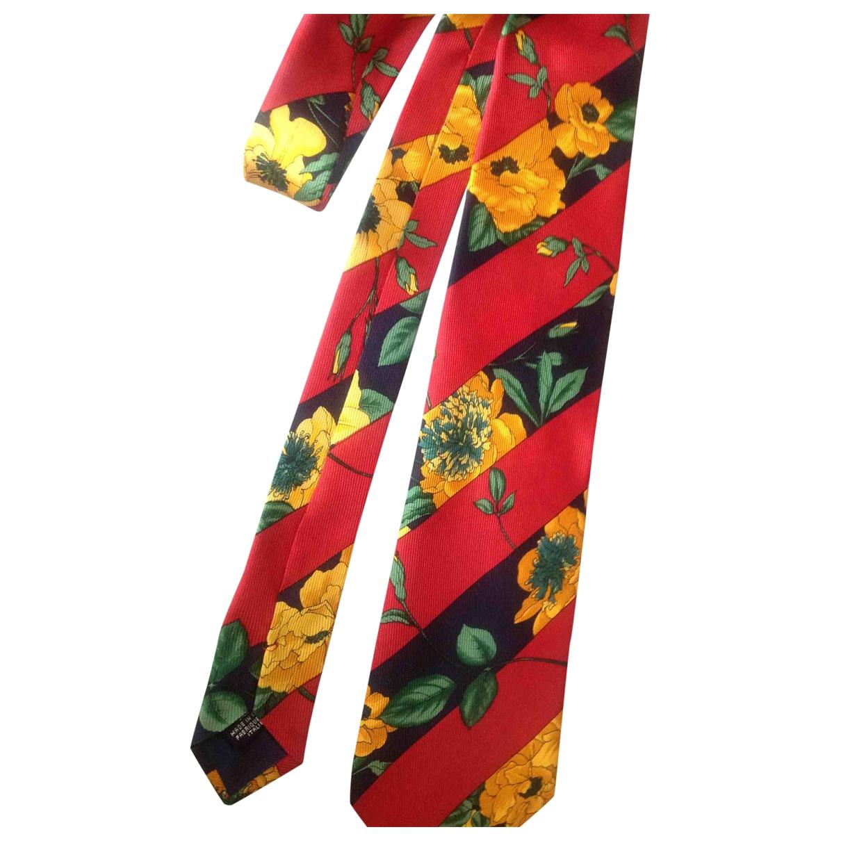 Kenzo - Cravates   pour homme en soie - rouge