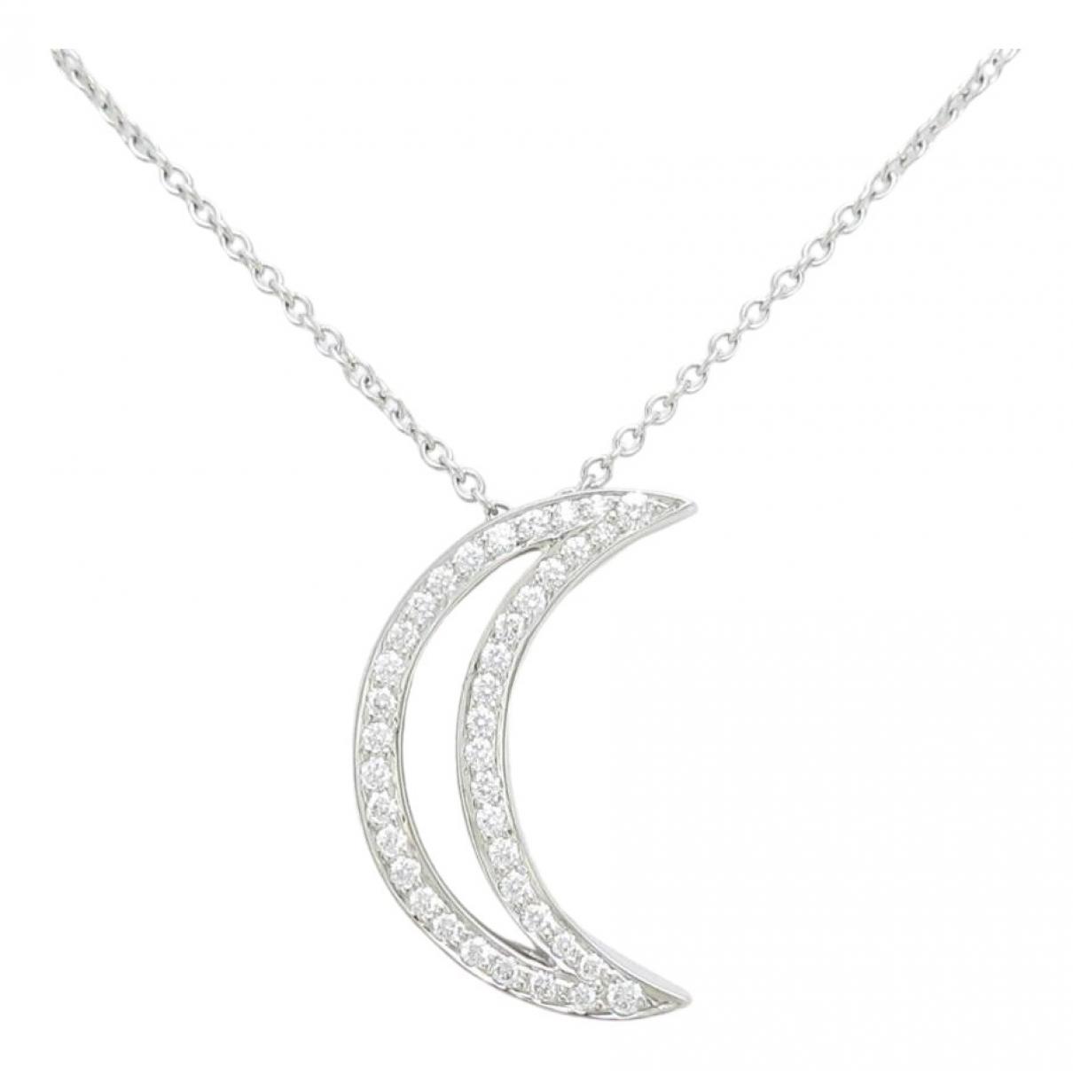 Tiffany & Co - Collier   pour femme en or blanc - dore