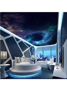 3D Dark Bule Galaxy Pattern Waterproof Durable Ceiling Murals