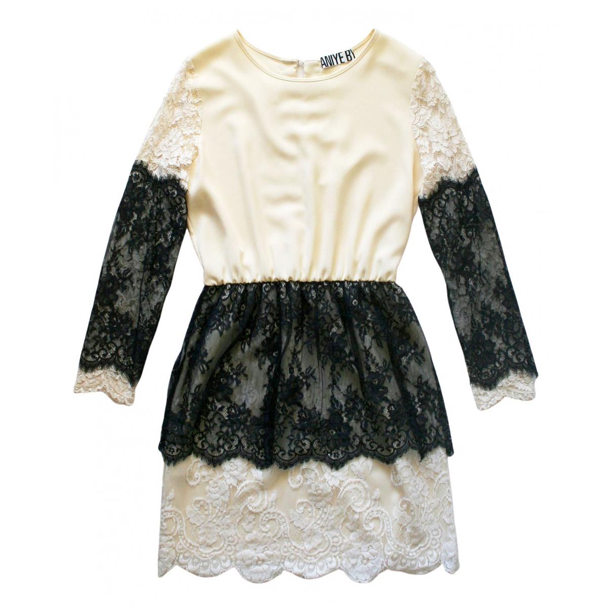 Aniye By \N Kleid in  Ecru Polyester
