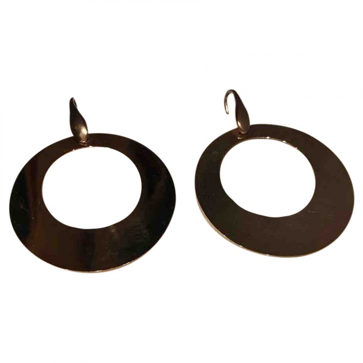 Non Signé / Unsigned Motifs Ethniques Gold Silver Plated Earrings for Women \N