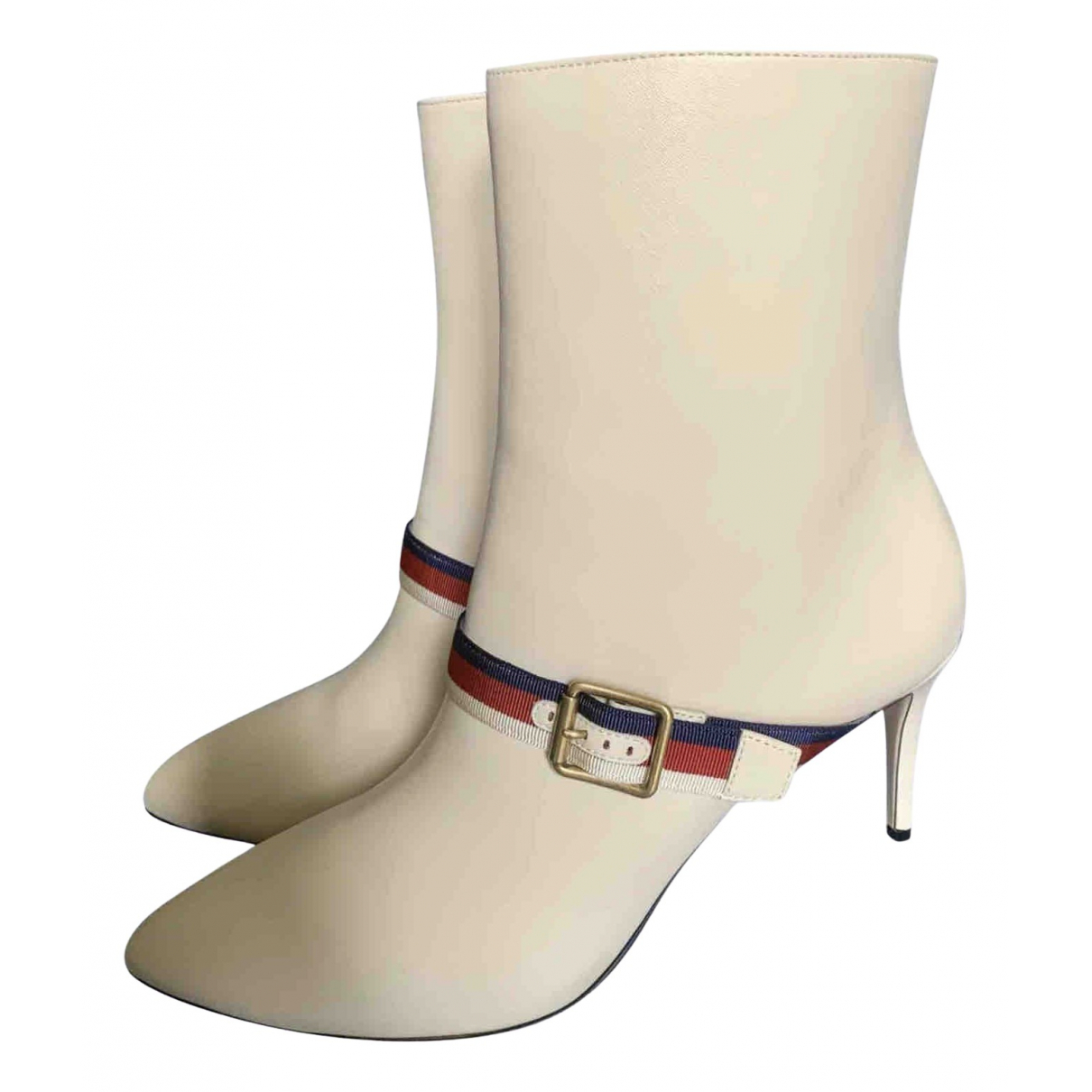 Gucci \N Beige Leather Ankle boots for Women 42 EU