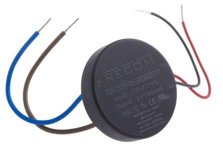 Recom , 3W Embedded Switch Mode Power Supply SMPS, 5V dc, Encapsulated
