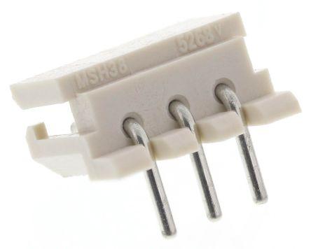 Molex , SPOX, 5268, 3 Way, 1 Row, Right Angle PCB Header (10)