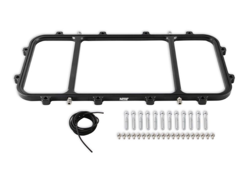 Holley 12538BNOS Gen-V LT Hi-Ram Intake Manifolds NOS Dry Nitrous Plates Kit (Black)