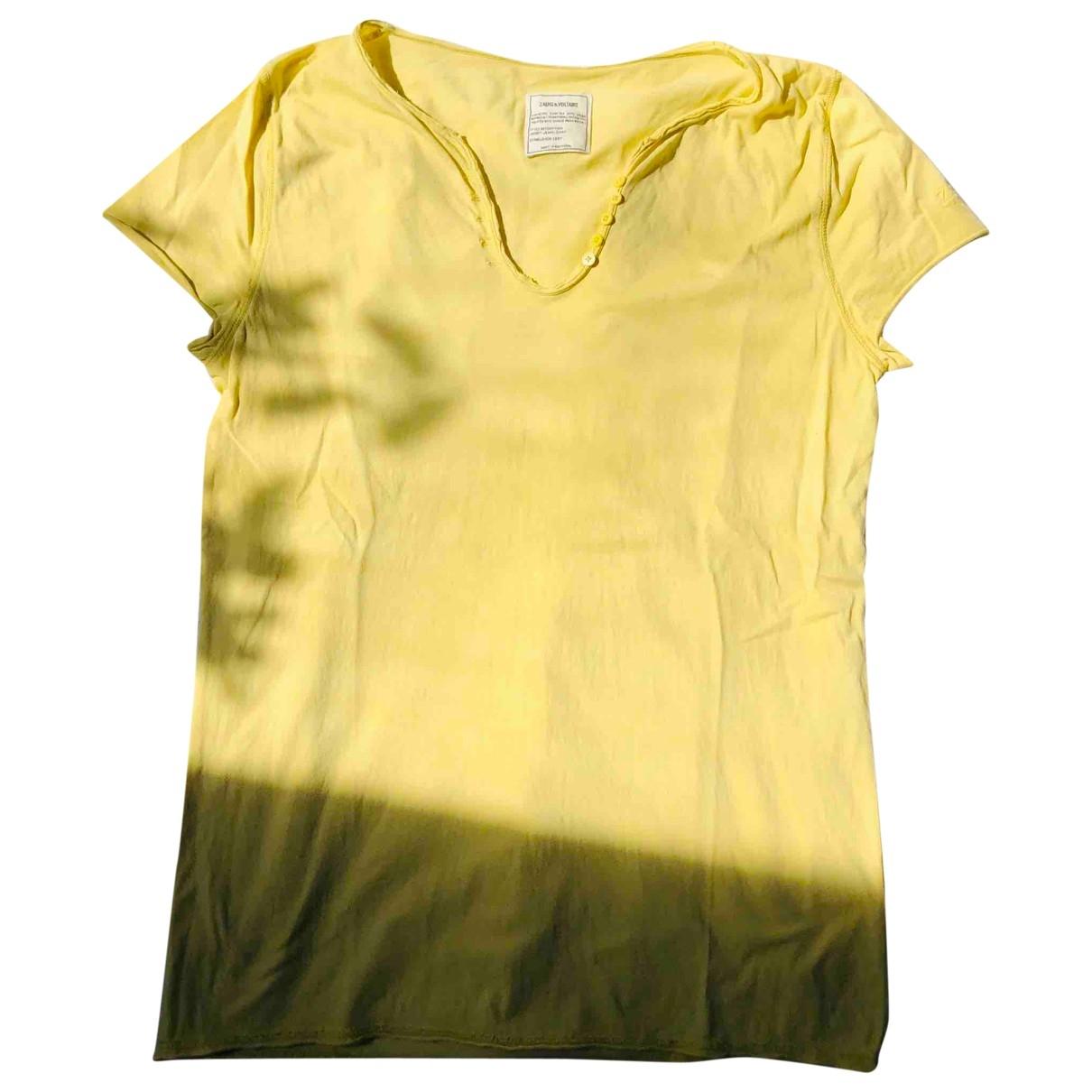 Zadig & Voltaire - Top   pour femme en coton - jaune