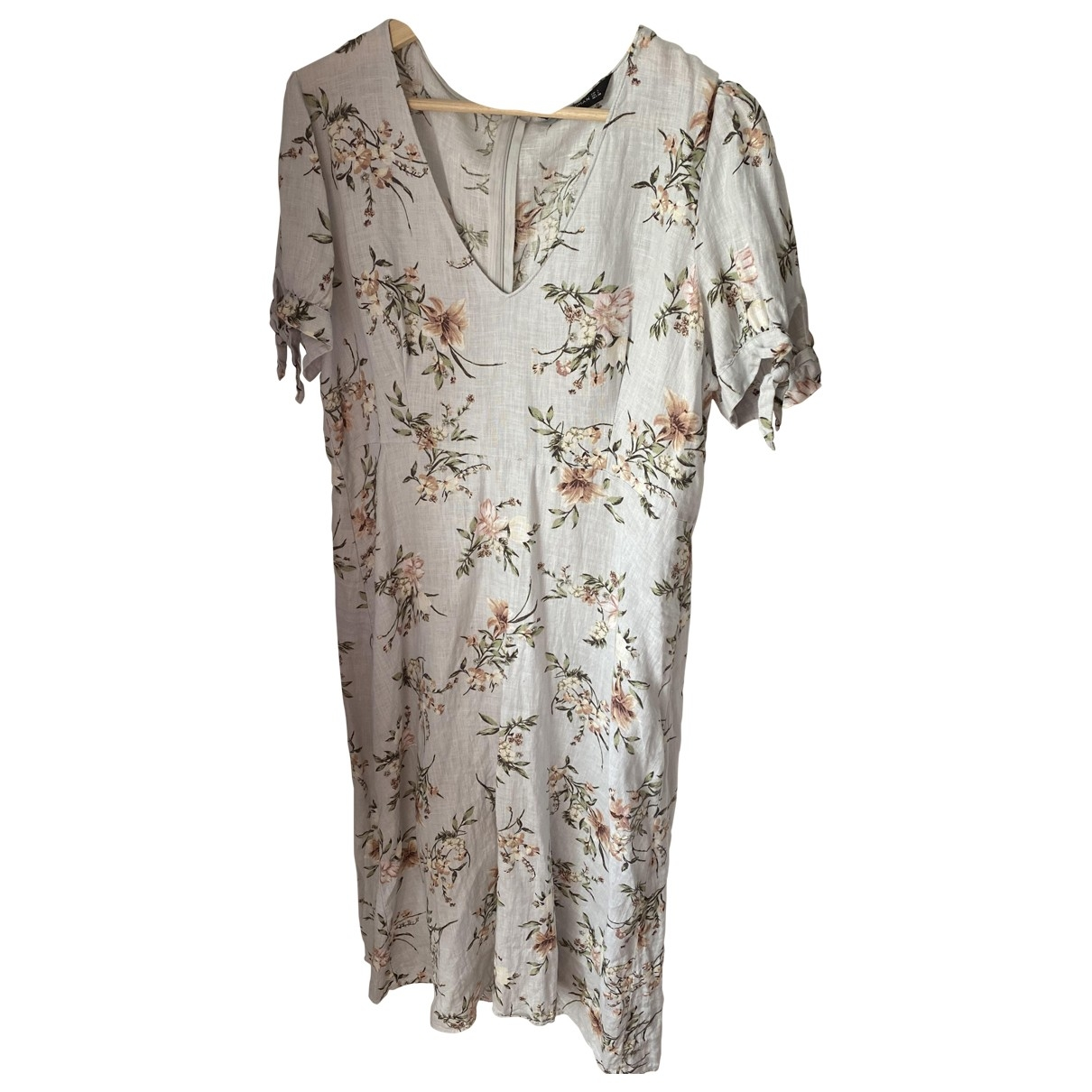 Zara \N Multicolour Linen dress for Women L International