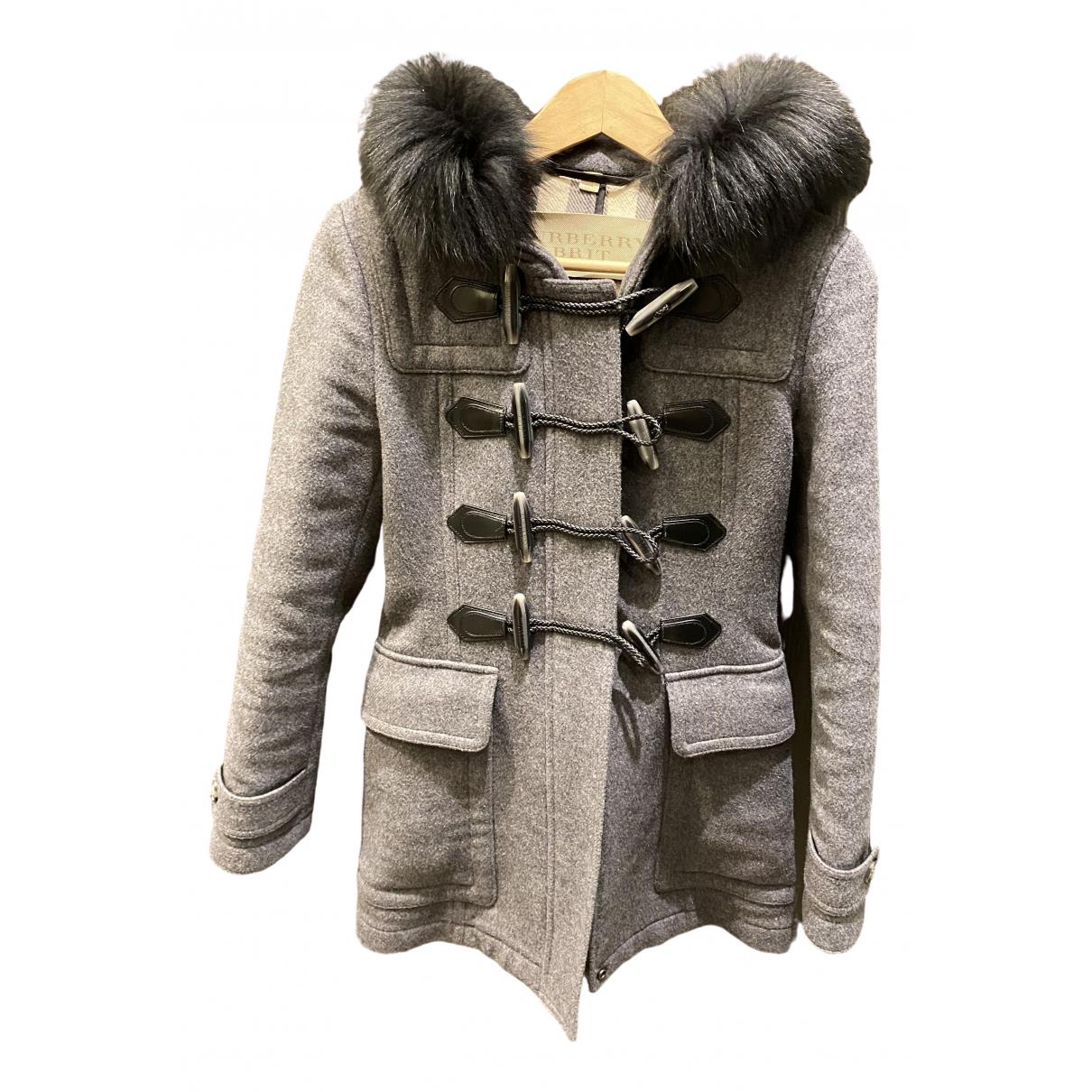 Burberry \N Grey Fur coat for Women 6 UK