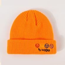 Embroidery Decor Beanie