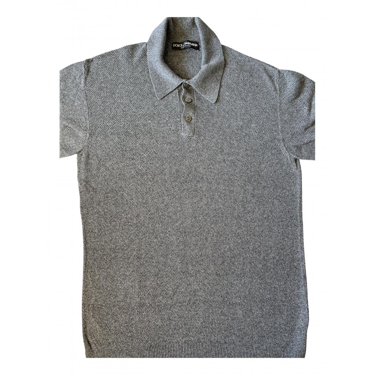Dolce & Gabbana - Polos   pour homme en coton - gris