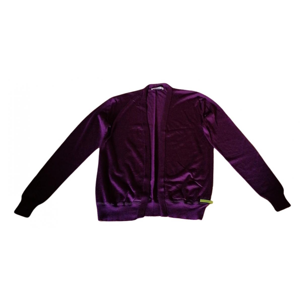 Bally - Pull   pour femme en soie - violet