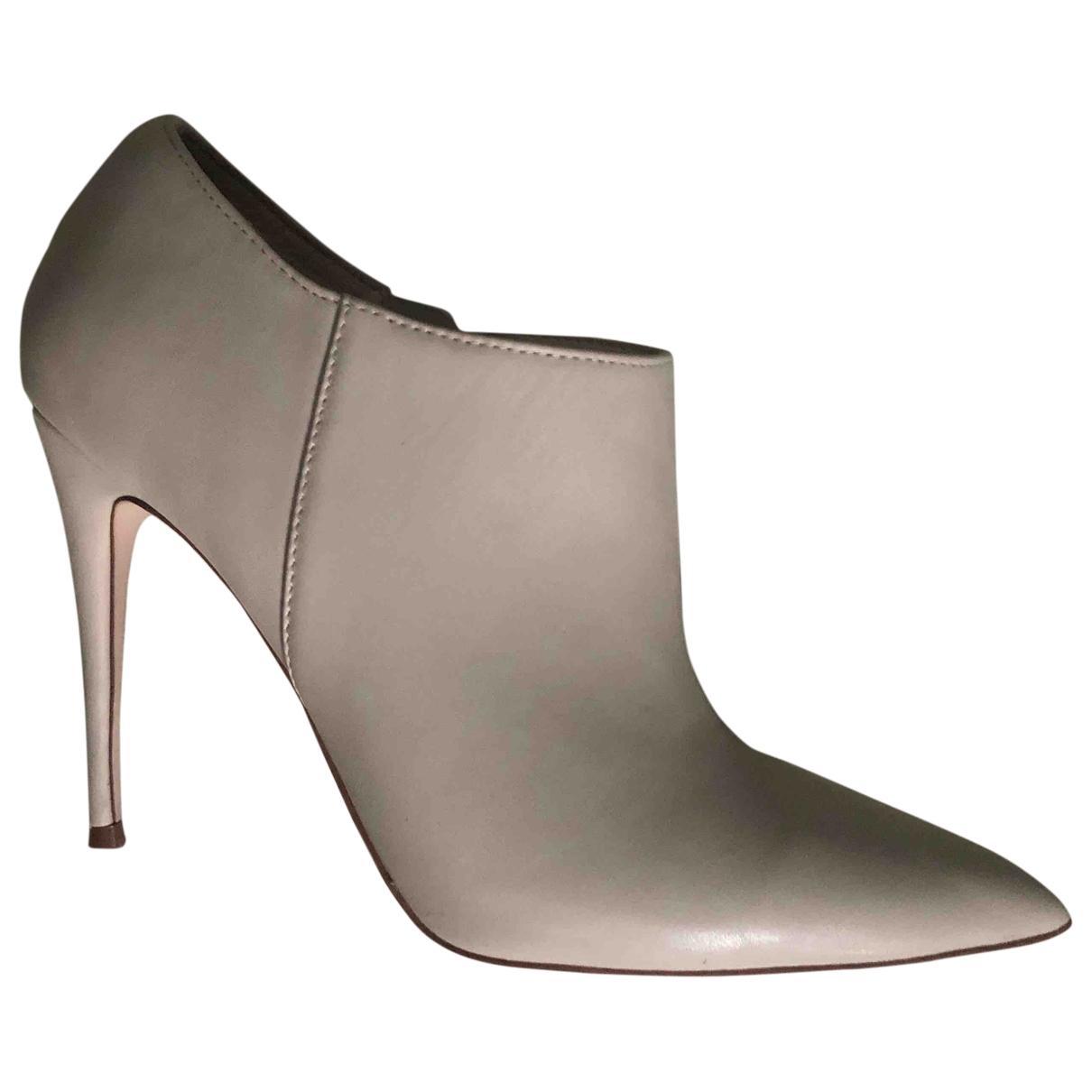 Kurt Geiger - Boots   pour femme en cuir - ecru