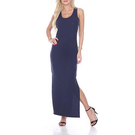 White Mark Cameron Maxi Dress, Large , Blue