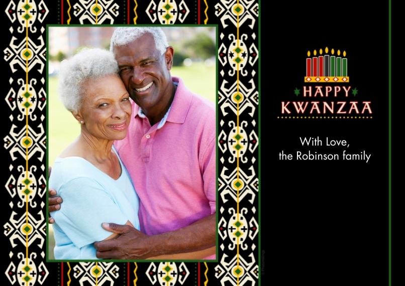 Kwanzaa Photo Cards Mail-for-Me Premium 5x7 Flat Card, Card & Stationery -Happy Kwanzaa
