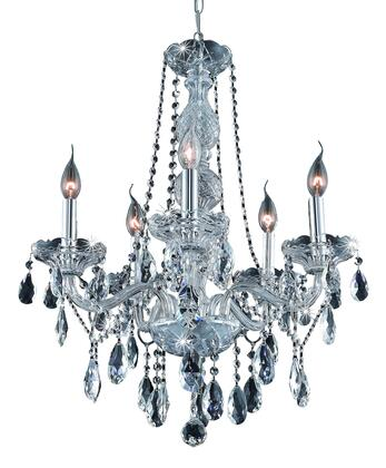 7955D21C/RC 7955 Verona Collection Hanging Fixture D21in H26in Lt: 5 Chrome Finish (Royal Cut