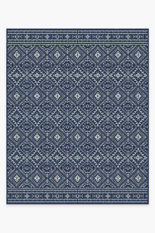 Washable Rug Cover | Outdoor Nomada Navy Rug | Stain-Resistant | Ruggable | 8'x10'