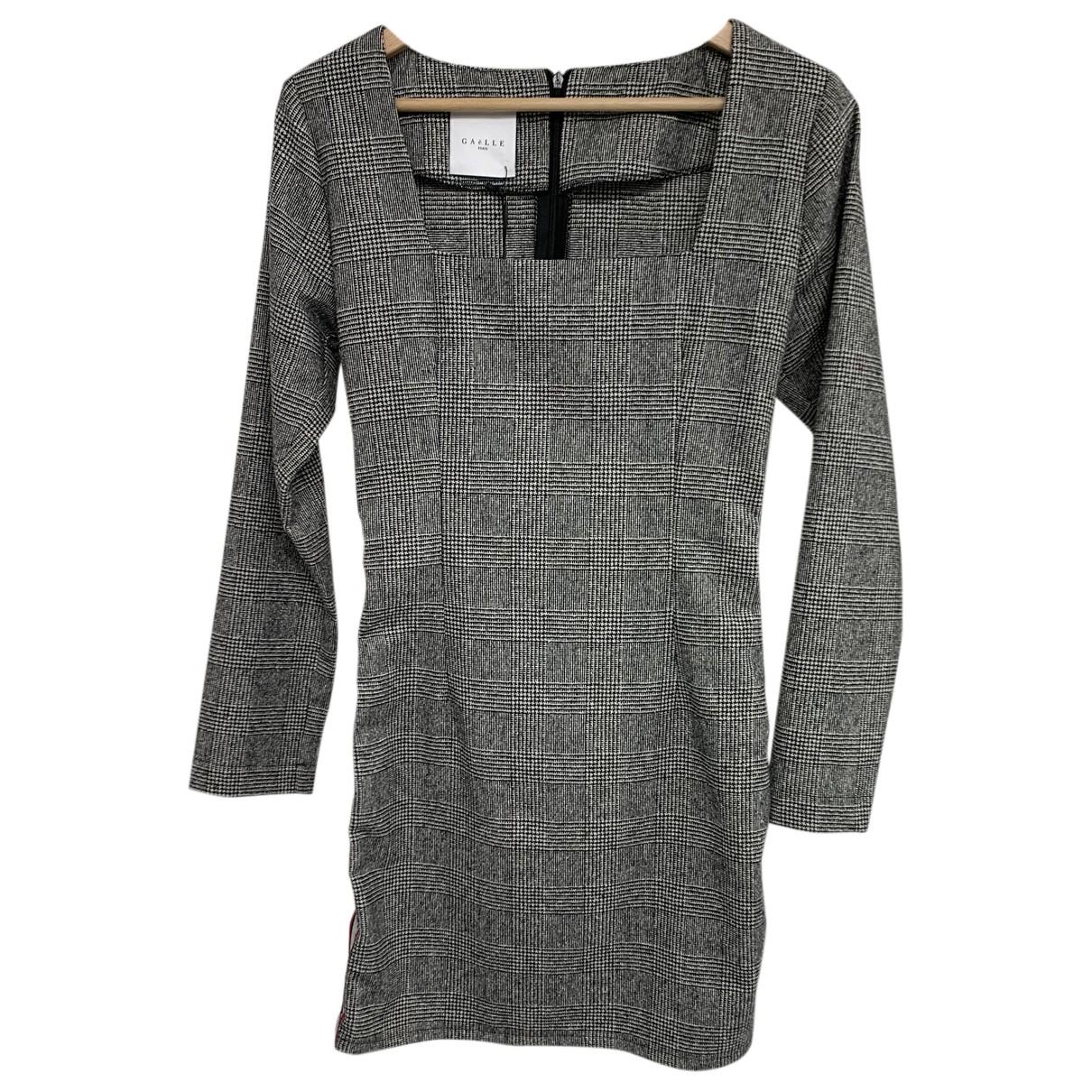 Gaelle Paris N Grey Wool dress for Women 40 IT