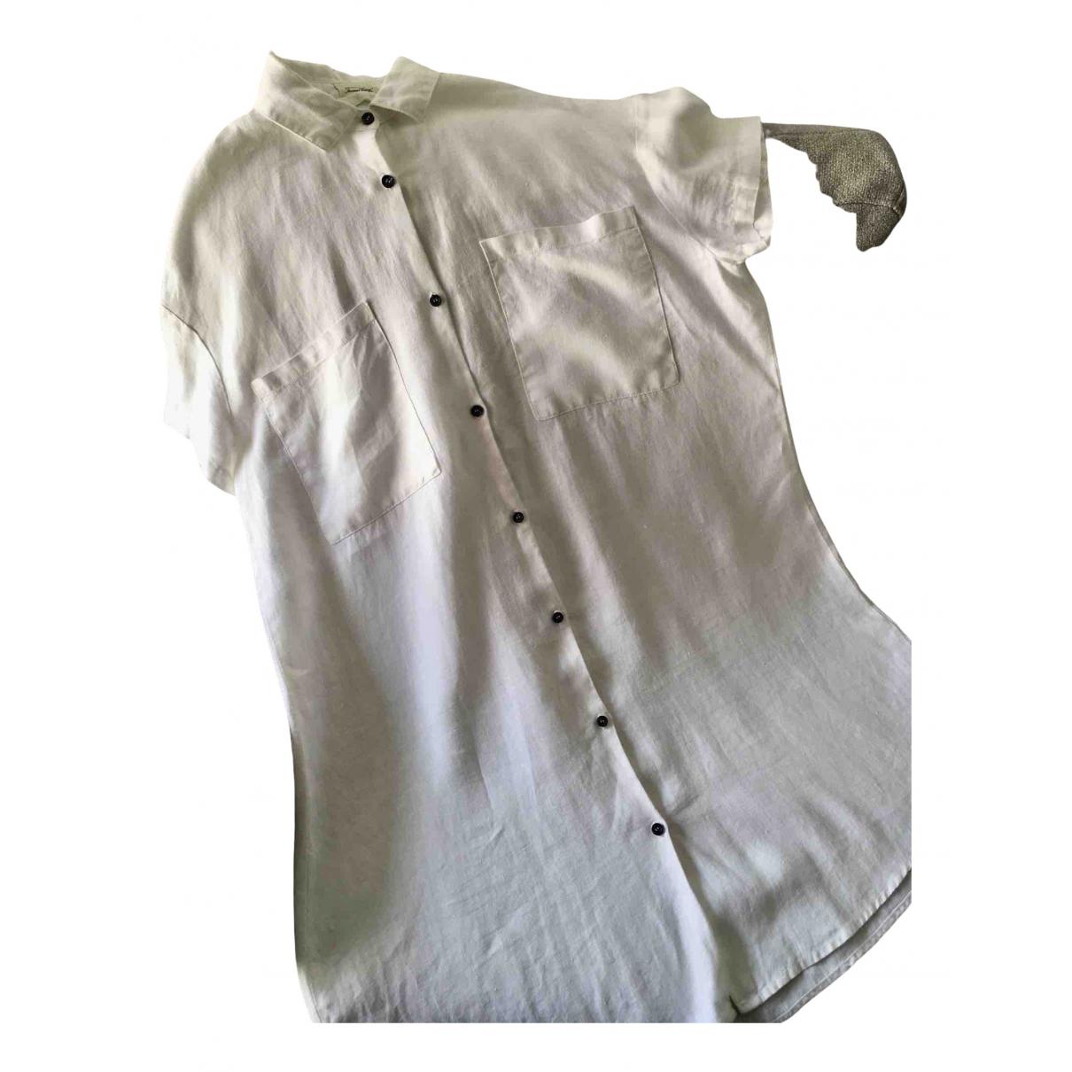American Vintage \N Kleid in  Weiss Leinen