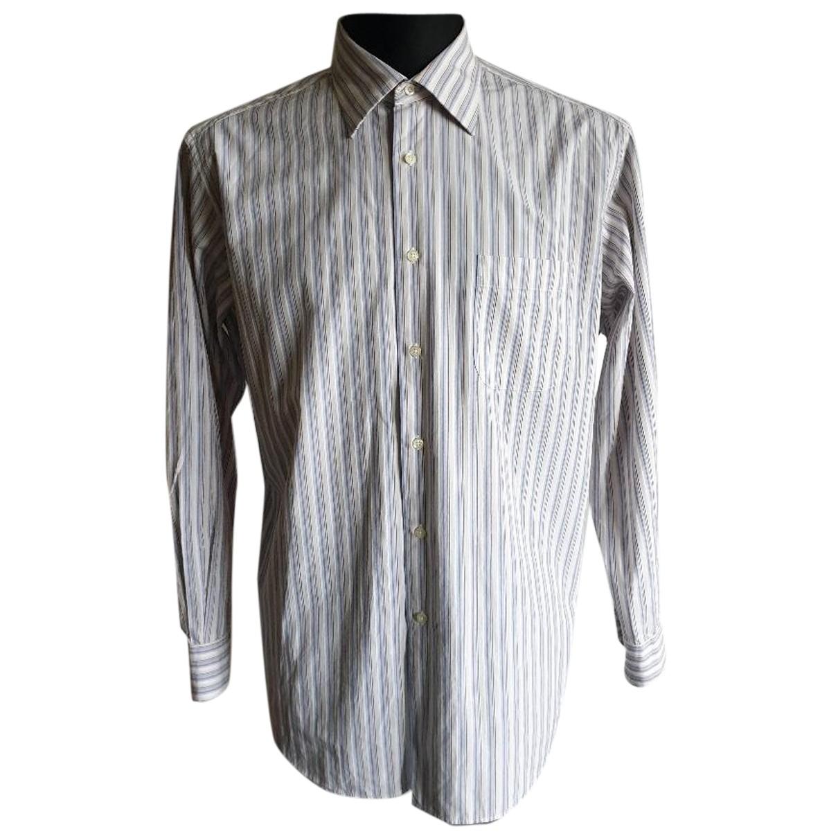 Hugo Boss - Chemises   pour homme en coton - bleu