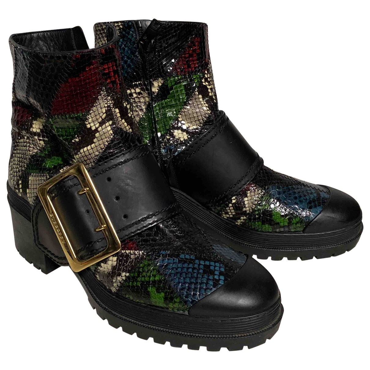 Burberry \N Multicolour Python Ankle boots for Women 39 EU