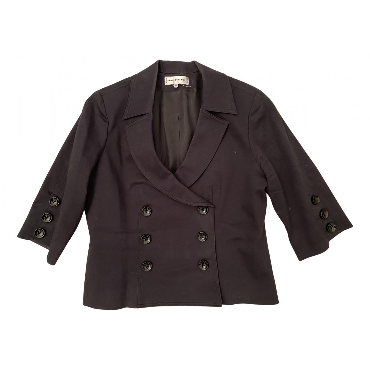 Anne Fontaine - Veste   pour femme en coton - noir