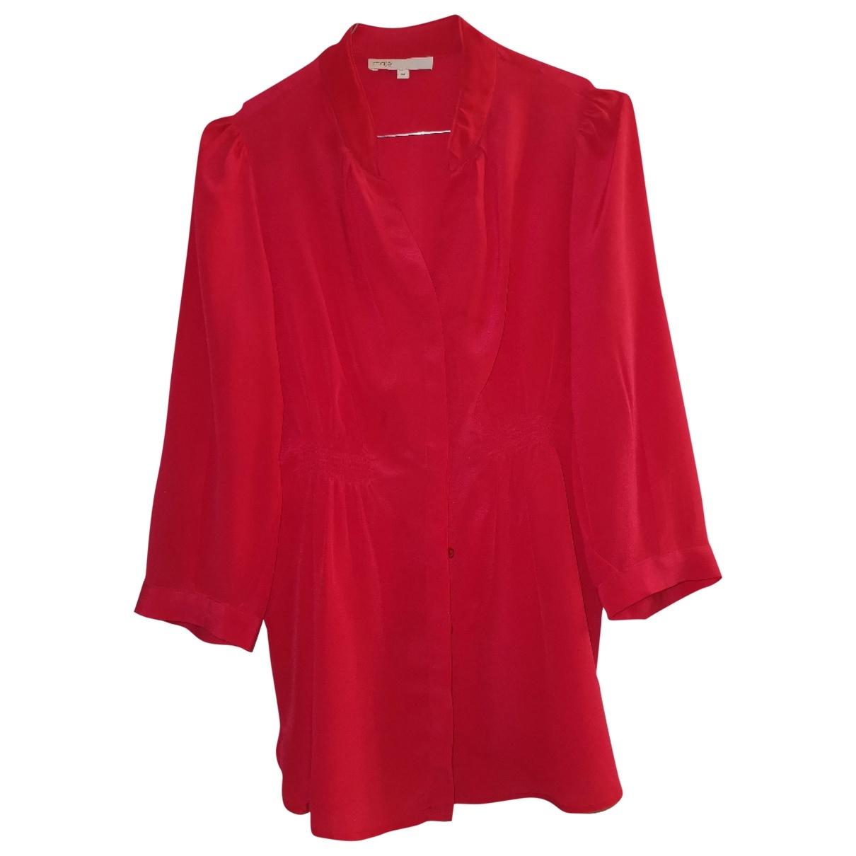 Maje \N Red Silk  top for Women M International