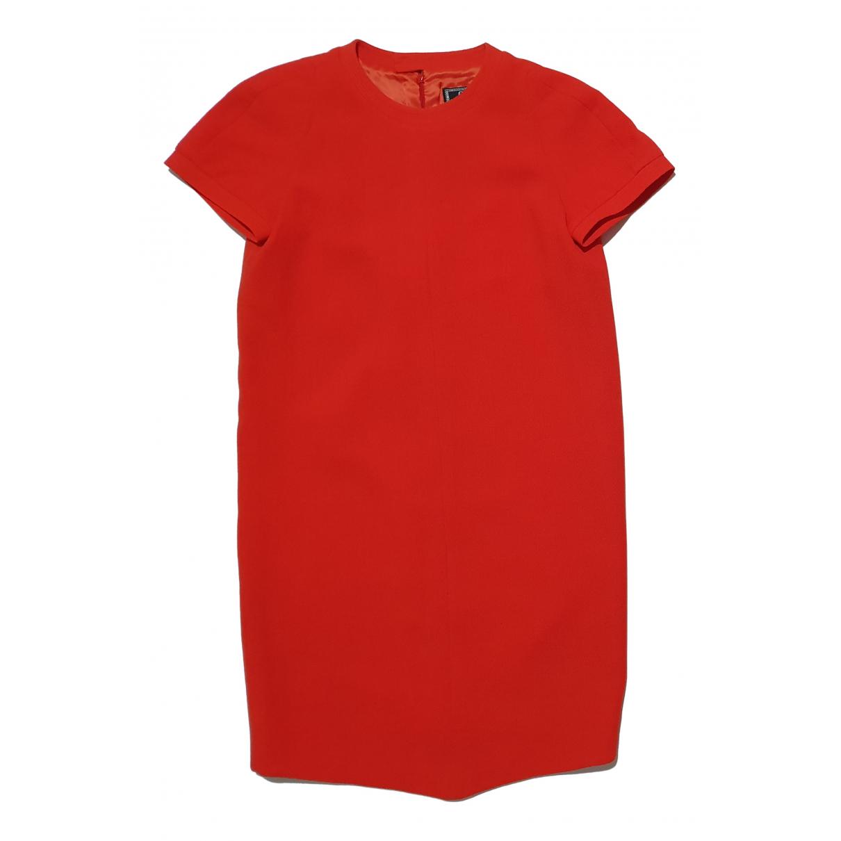 Gianni Versace \N Kleid in  Orange Wolle