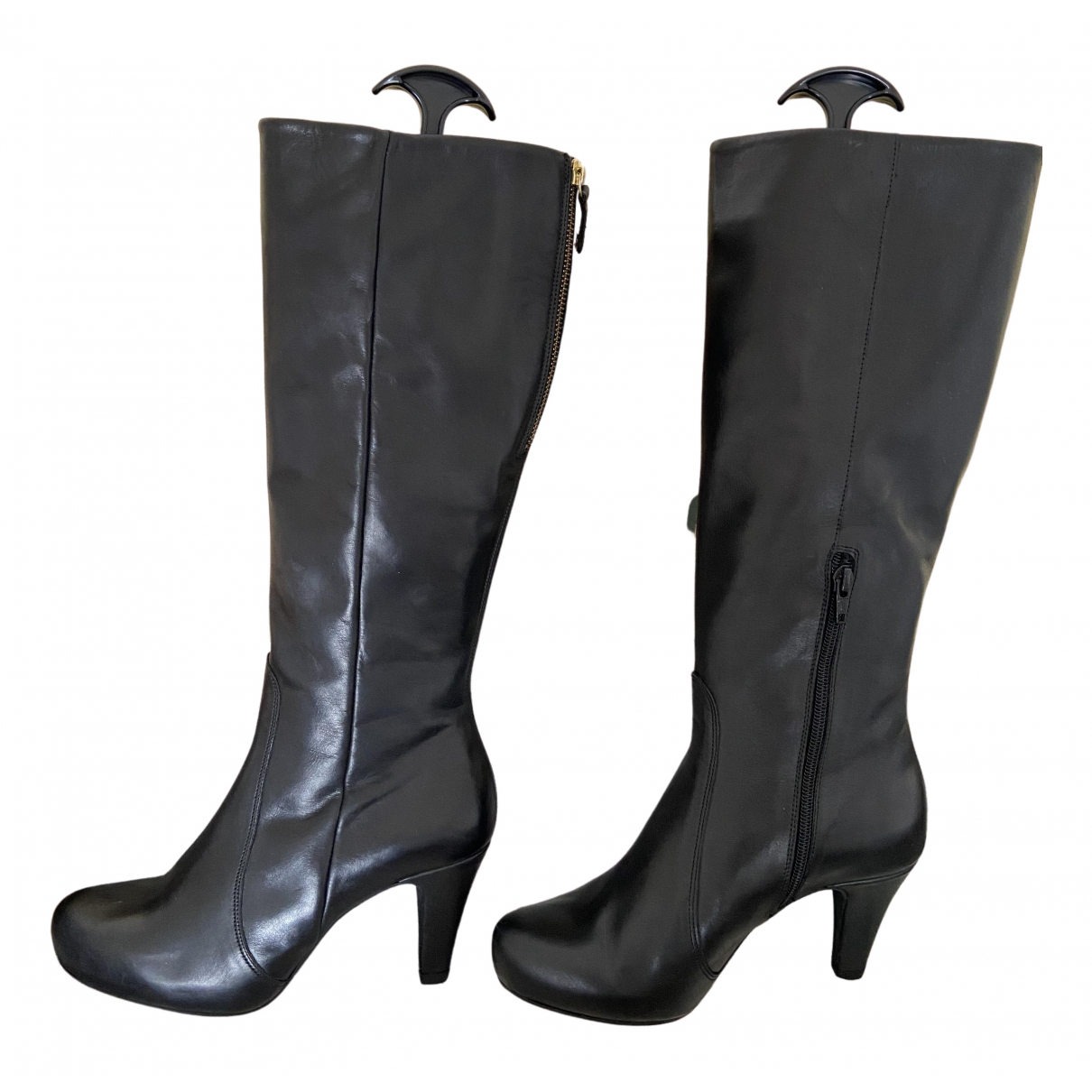 Unisa N Black Leather Boots for Women 37 EU