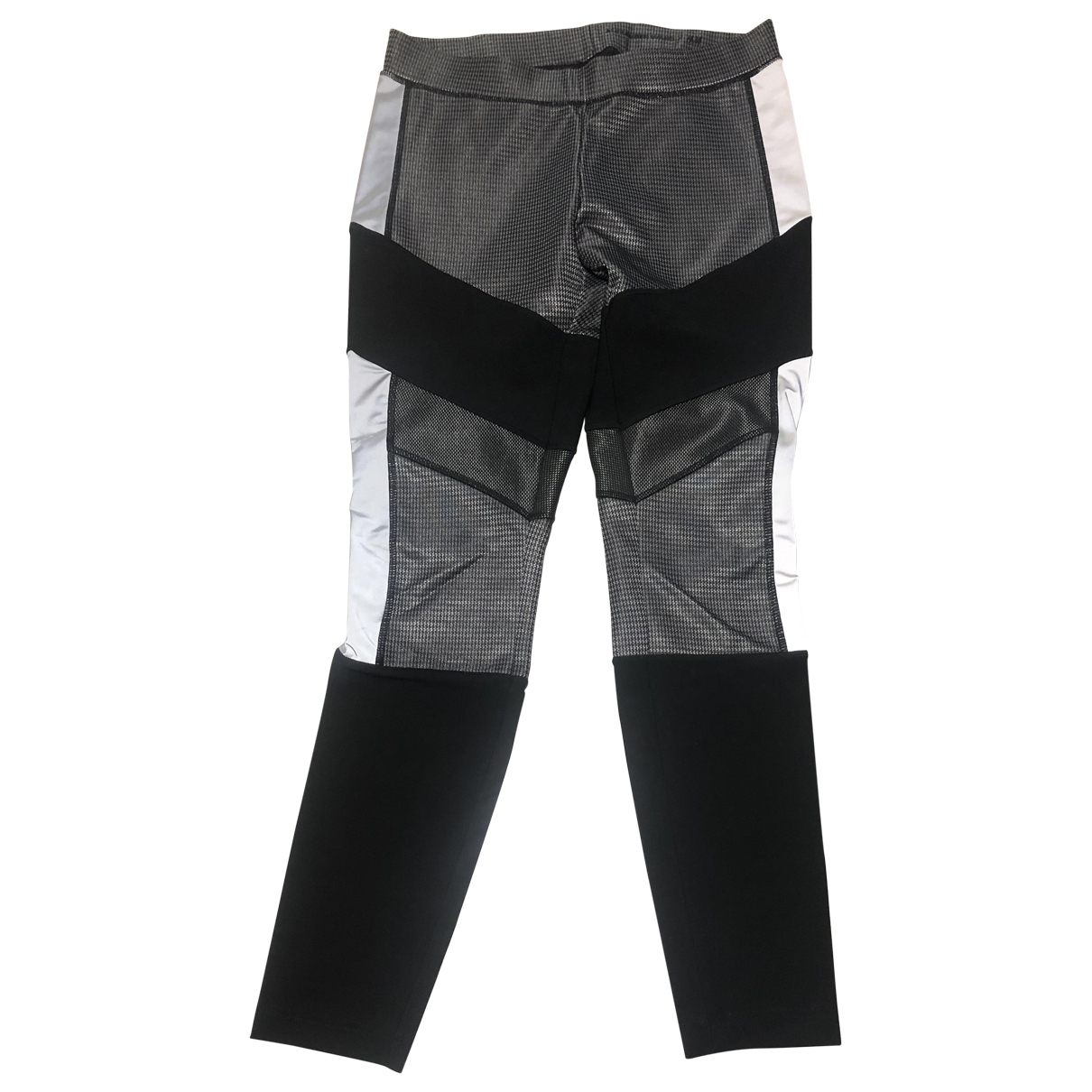 Alexander Wang Pour H&m \N Anthracite Spandex Trousers for Women 10 US