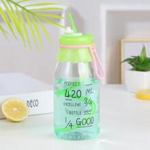Letter Graphic Straw Bottle