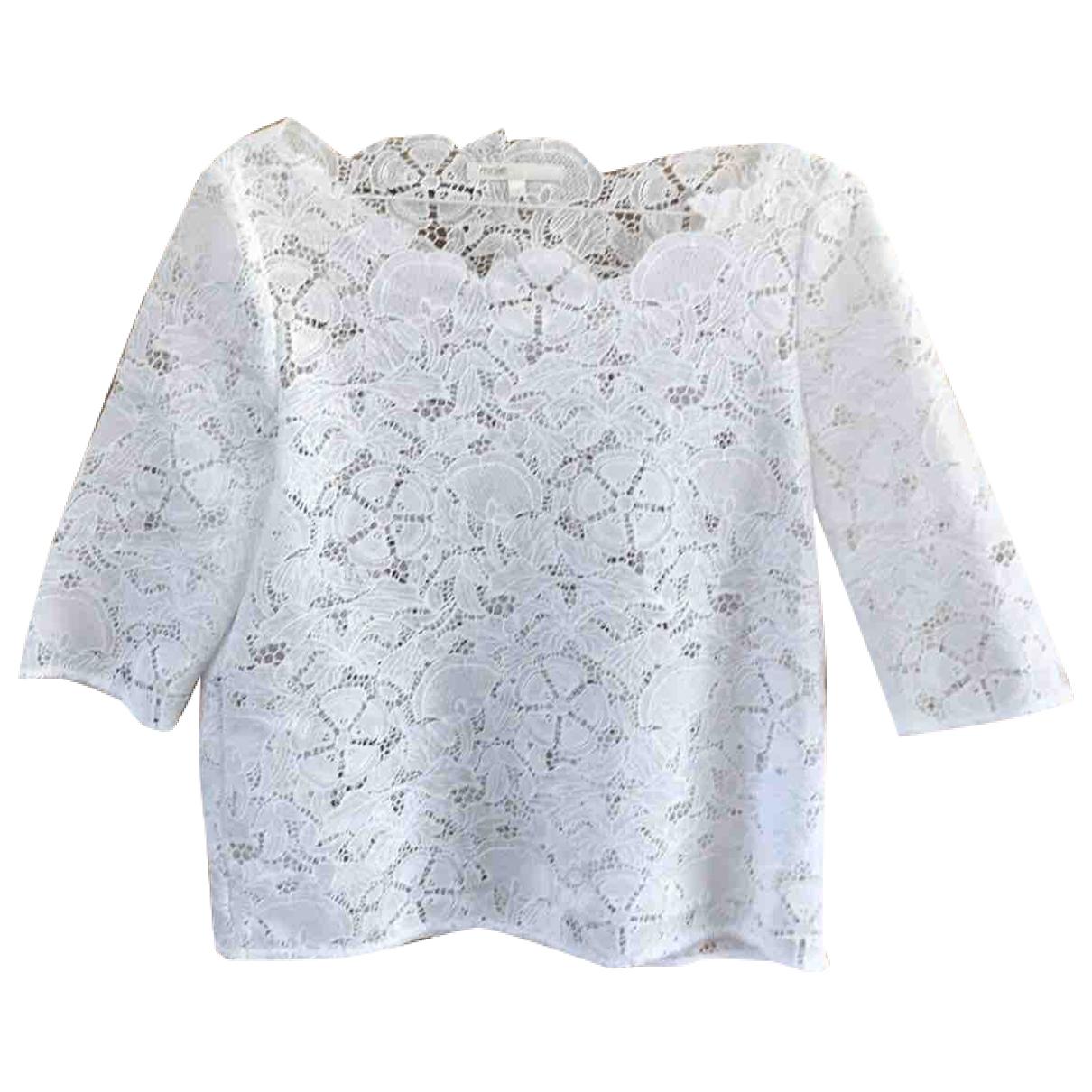 Maje \N White Cotton  top for Women 36 FR