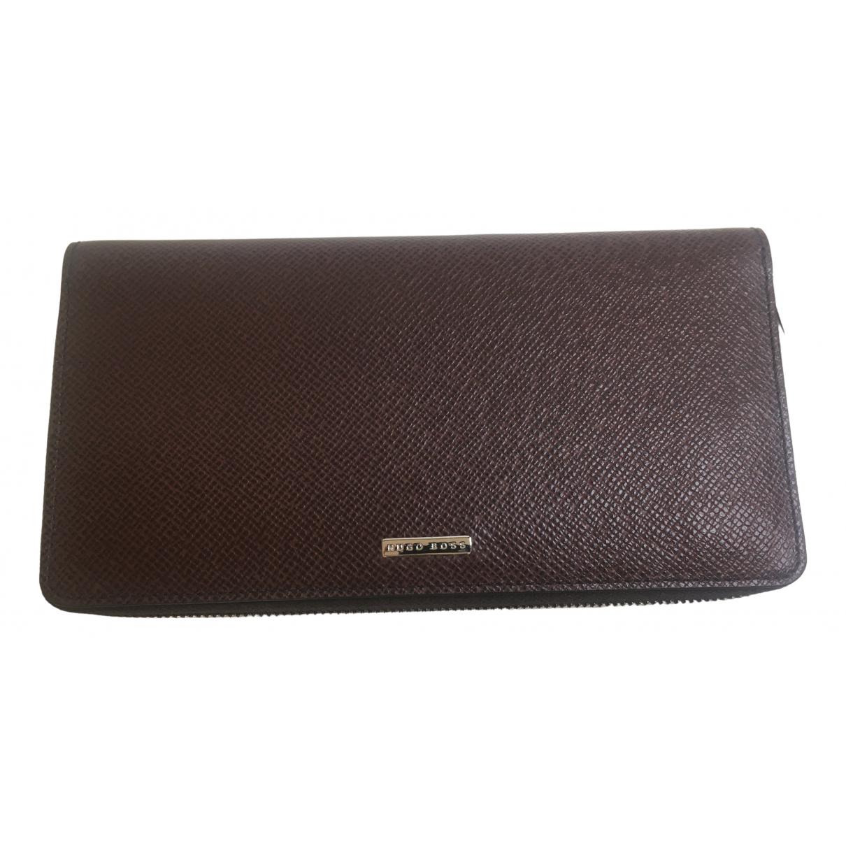 Hugo Boss \N Burgundy Leather wallet for Women \N